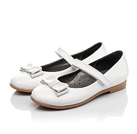 Детские туфли Woopy Orthopedic белые для девочек натуральная кожа размер 30-37 (3651) Фото 3