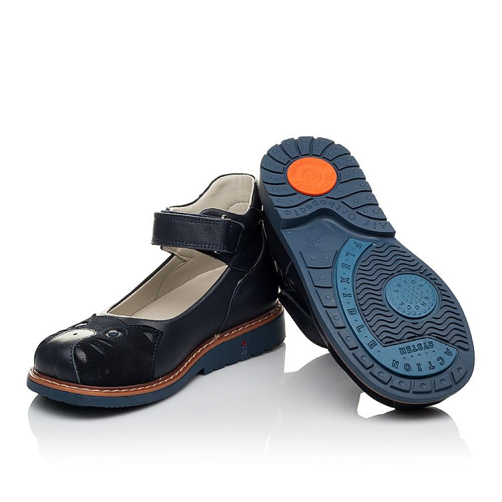 Детские туфли ортопедические Woopy Orthopedic синие для девочек натуральная кожа размер 28-33 (3653) Фото 2