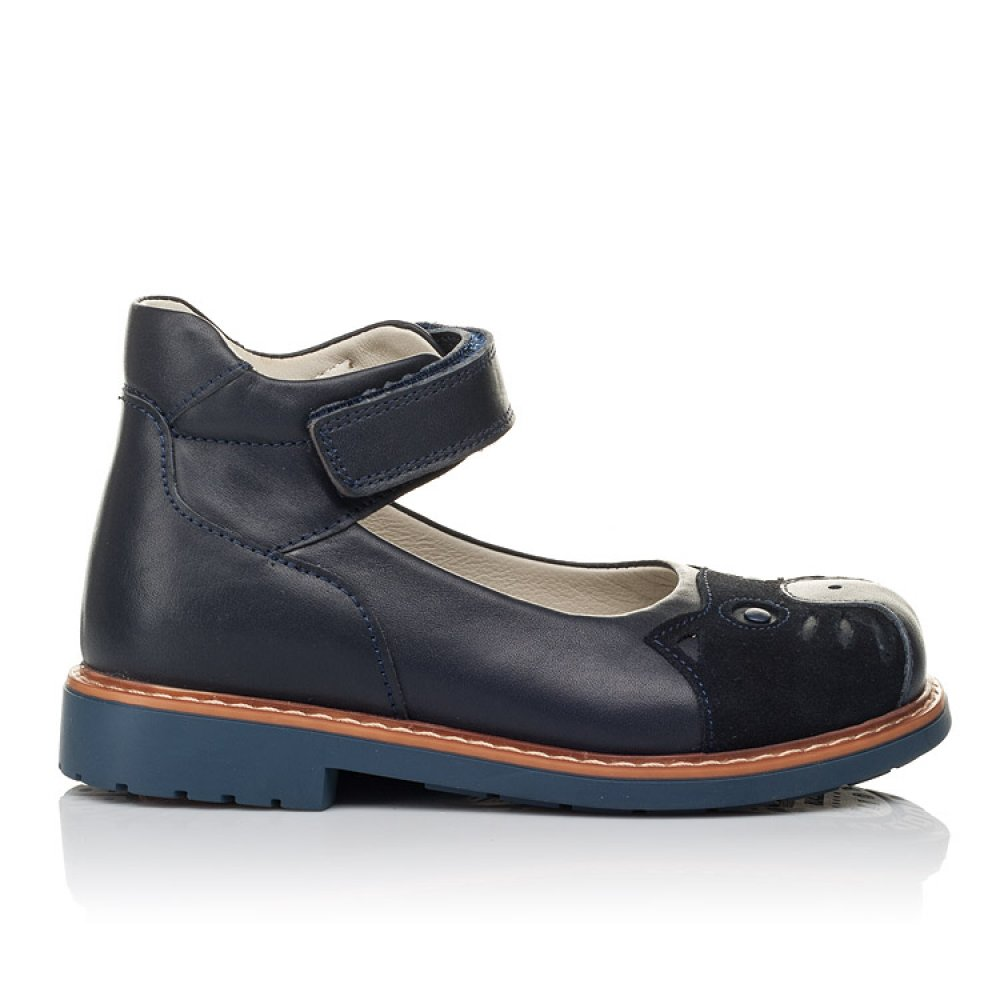 Детские туфли ортопедические Woopy Orthopedic синие для девочек натуральная кожа размер 28-33 (3653) Фото 4