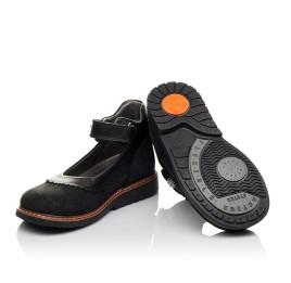 Детские туфли ортопедические Woopy Orthopedic черные для девочек натуральная кожа и нубук размер 29-36 (3654) Фото 2