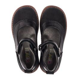 Детские туфли ортопедические Woopy Orthopedic черные для девочек натуральная кожа и нубук размер 29-36 (3654) Фото 5