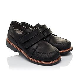 Детские туфли Woopy Orthopedic черные для мальчиков натуральный нубук размер - (3655) Фото 1