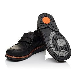Детские туфли Woopy Orthopedic черные для мальчиков натуральный нубук размер - (3655) Фото 2