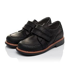Детские туфли Woopy Orthopedic черные для мальчиков натуральный нубук размер - (3655) Фото 3