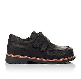 Детские туфли Woopy Orthopedic черные для мальчиков натуральный нубук размер - (3655) Фото 4
