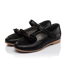 Детские туфли Woopy Orthopedic черные для девочек натуральный нубук и замша размер 29-36 (3656) Фото 3