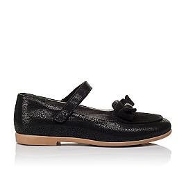 Детские туфли Woopy Orthopedic черные для девочек натуральный нубук и замша размер 29-36 (3656) Фото 4