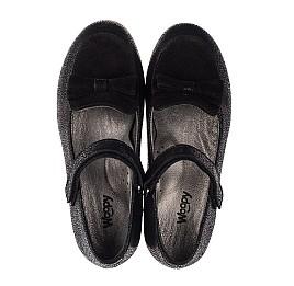 Детские туфли Woopy Orthopedic черные для девочек натуральный нубук и замша размер 29-36 (3656) Фото 5