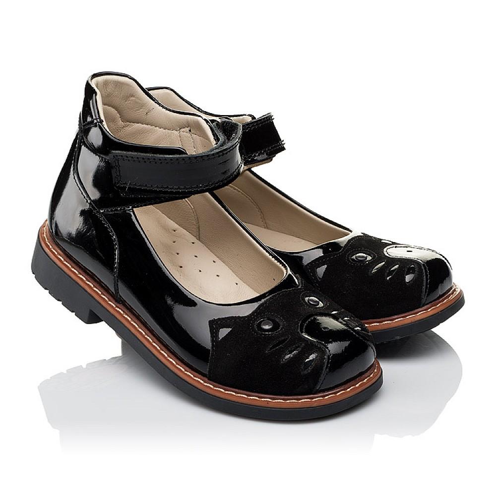 Детские туфли ортопедические Woopy Orthopedic черные для девочек натуральная лаковая кожа размер 28-34 (3657) Фото 1