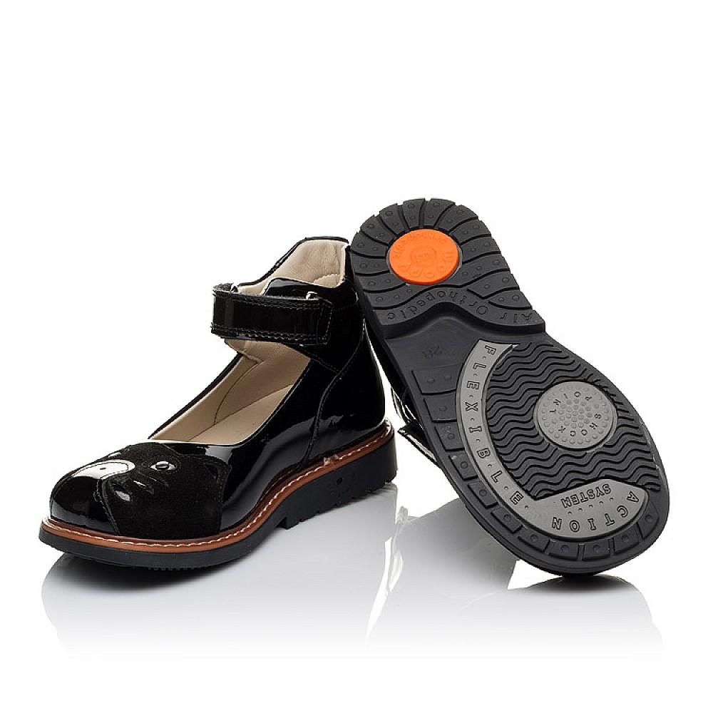 Детские туфли ортопедические Woopy Orthopedic черные для девочек натуральная лаковая кожа размер 28-34 (3657) Фото 2