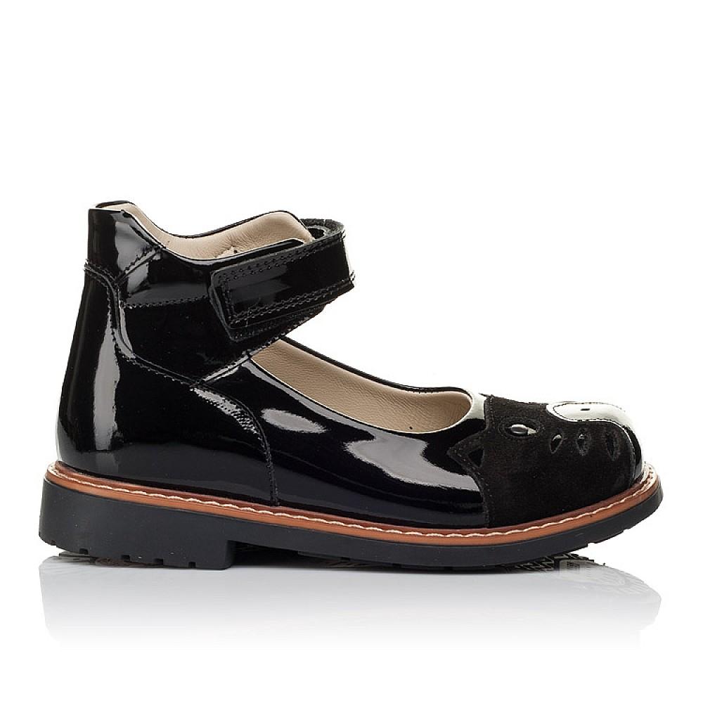 Детские туфли ортопедические Woopy Orthopedic черные для девочек натуральная лаковая кожа размер 28-34 (3657) Фото 4