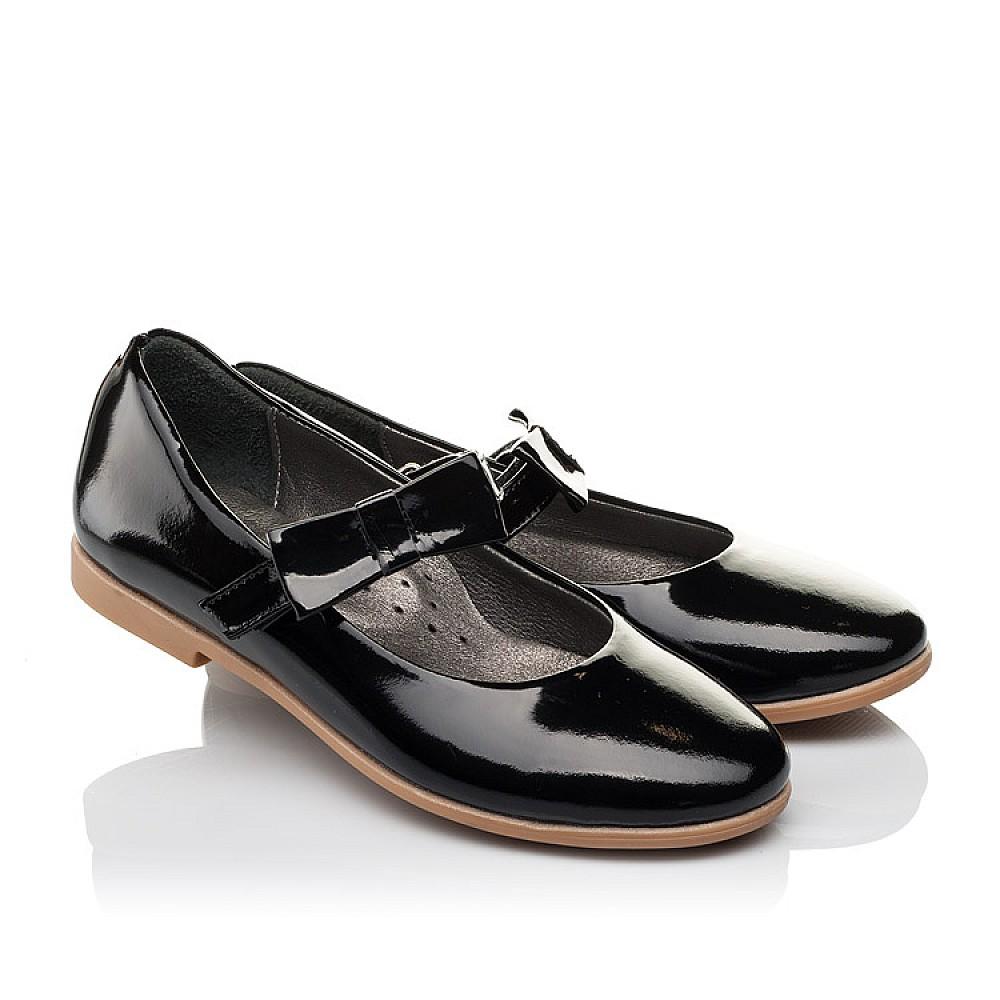 Детские туфли Woopy Orthopedic черные для девочек натуральная лаковая кожа размер 29-39 (3658) Фото 1