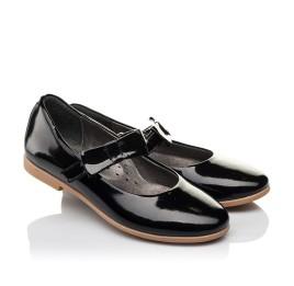 Детские туфли Woopy Orthopedic черные для девочек натуральная лаковая кожа размер 29-29 (3658) Фото 1