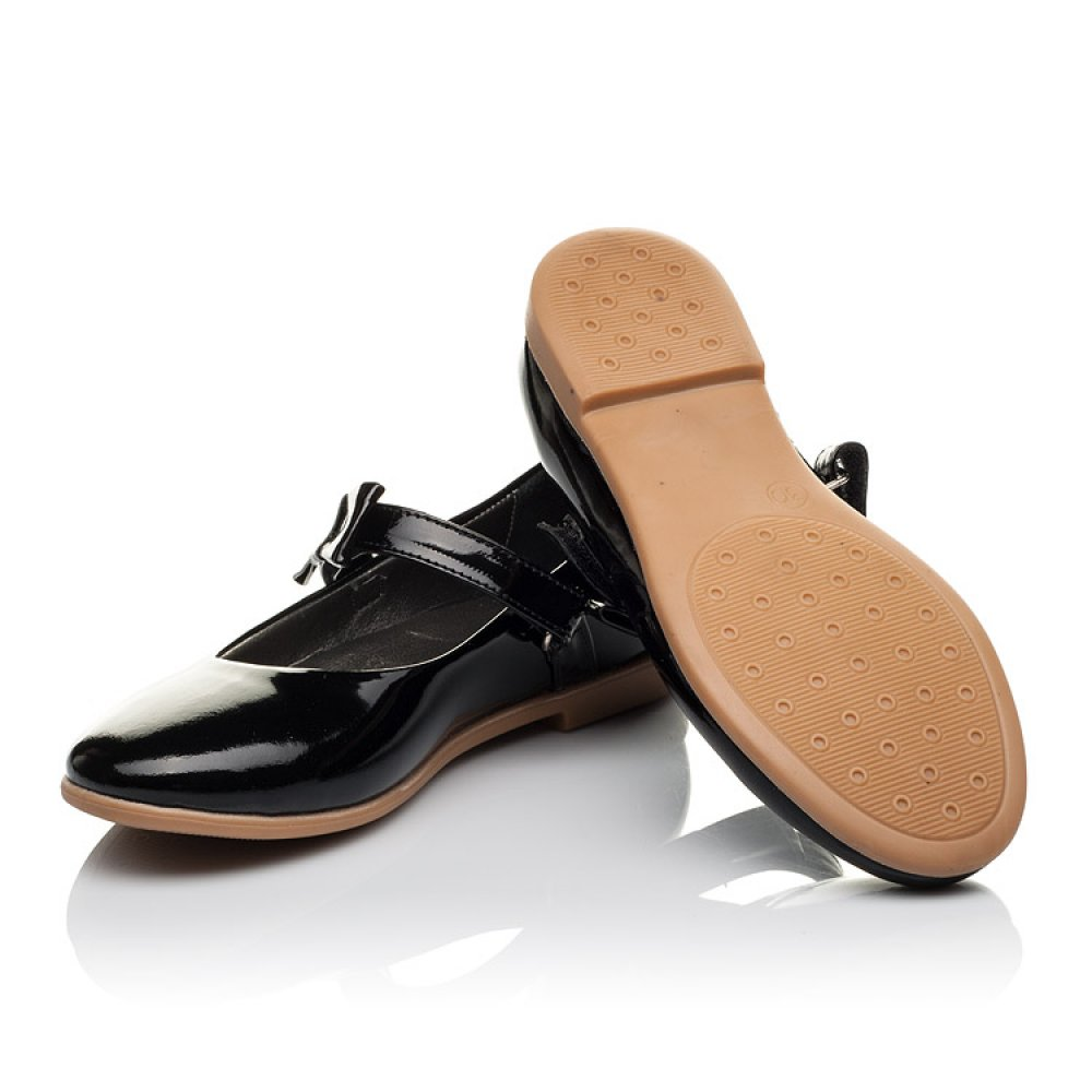 Детские туфли Woopy Orthopedic черные для девочек натуральная лаковая кожа размер 29-39 (3658) Фото 2