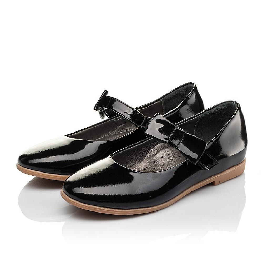 Детские туфли Woopy Orthopedic черные для девочек натуральная лаковая кожа размер 29-39 (3658) Фото 3