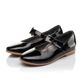 Детские туфли Woopy Orthopedic черные для девочек натуральная лаковая кожа размер 29-29 (3658) Фото 3