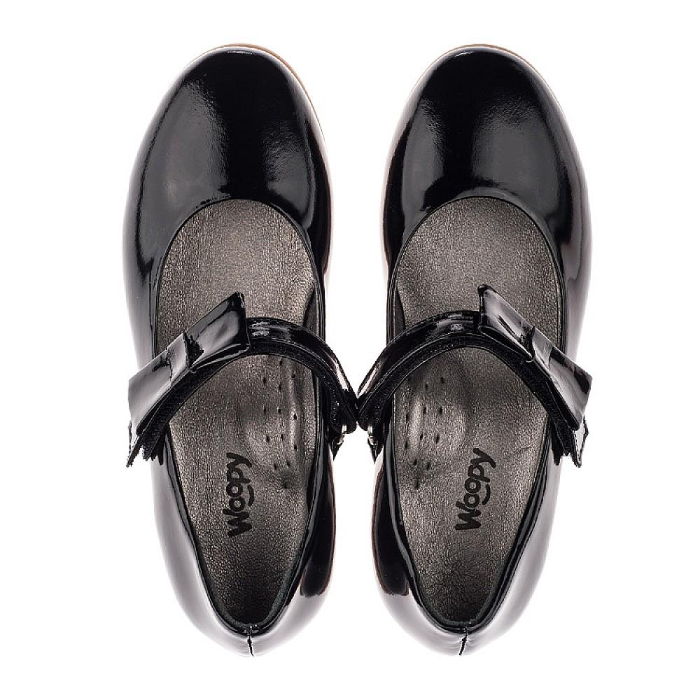 Детские туфли Woopy Orthopedic черные для девочек натуральная лаковая кожа размер 29-39 (3658) Фото 5