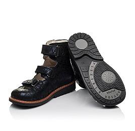 Детские ортопедические туфли (с высоким берцем) Woopy Orthopedic синие для девочек натуральный нубук размер 30-36 (3659) Фото 2