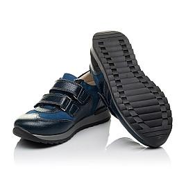 Детские кроссовки Woopy Orthopedic синие, голубые для мальчиков натуральный нубук и кожа размер 26-34 (3661) Фото 2