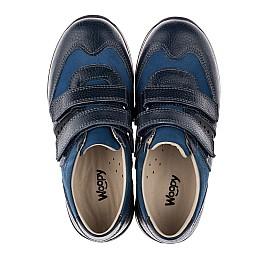 Детские кроссовки Woopy Orthopedic синие, голубые для мальчиков натуральный нубук и кожа размер 26-34 (3661) Фото 5