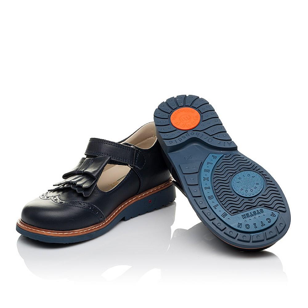 Детские туфли ортопедические Woopy Orthopedic синие для девочек натуральная кожа размер 29-34 (3665) Фото 2