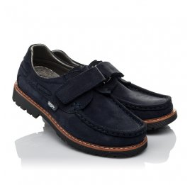 Детские туфли Woopy Orthopedic синие для мальчиков натуральный нубук размер 30-40 (3670) Фото 1