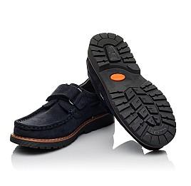 Детские туфли Woopy Orthopedic синие для мальчиков натуральный нубук размер 30-40 (3670) Фото 2