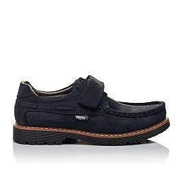Детские туфли Woopy Orthopedic синие для мальчиков натуральный нубук размер 30-40 (3670) Фото 4
