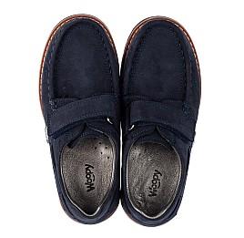 Детские туфли Woopy Orthopedic синие для мальчиков натуральный нубук размер 30-40 (3670) Фото 5