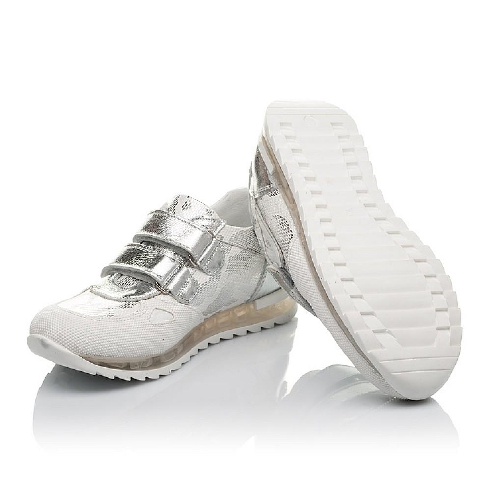 Детские кроссовки Woopy Orthopedic белые, серебро для девочек натуральная кожа размер 31-37 (3674) Фото 2