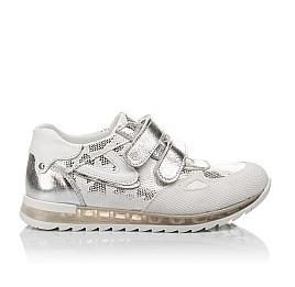 Детские кроссовки Woopy Orthopedic белые, серебро для девочек натуральная кожа размер 31-37 (3674) Фото 4