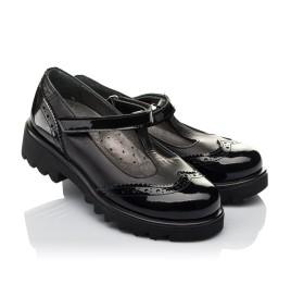 Детские туфли Woopy Orthopedic черные для девочек натуральная кожа / лаковая кожа размер 30-35 (3675) Фото 1