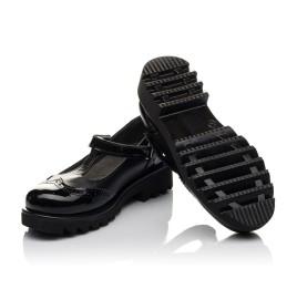 Детские туфли Woopy Orthopedic черные для девочек натуральная кожа / лаковая кожа размер 30-35 (3675) Фото 2