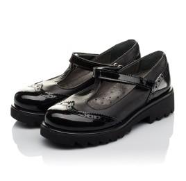 Детские туфли Woopy Orthopedic черные для девочек натуральная кожа / лаковая кожа размер 30-35 (3675) Фото 3