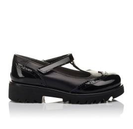 Детские туфли Woopy Orthopedic черные для девочек натуральная кожа / лаковая кожа размер 30-35 (3675) Фото 4