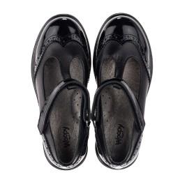 Детские туфли Woopy Orthopedic черные для девочек натуральная кожа / лаковая кожа размер 30-35 (3675) Фото 5