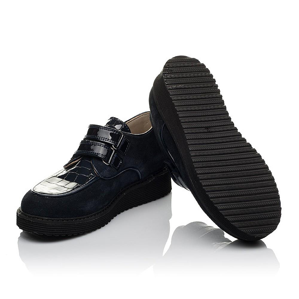 Детские туфли Woopy Orthopedic темно-синие для девочек натуральная замша, лаковая кожа размер 31-36 (3676) Фото 2