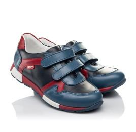 Детские кроссовки Woopy Orthopedic синие для мальчиков натуральная кожа размер 23-35 (3679) Фото 1