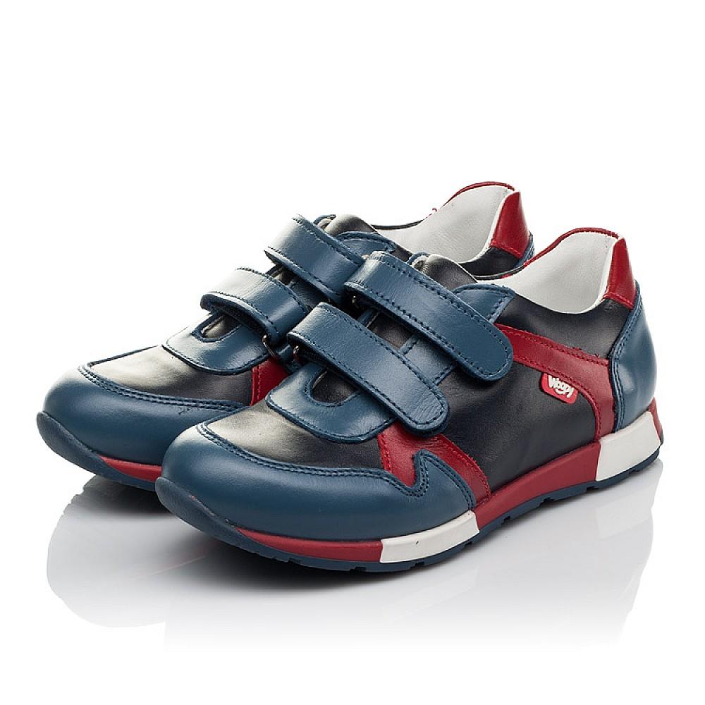 Детские кроссовки Woopy Orthopedic синие для мальчиков натуральная кожа размер 23-35 (3679) Фото 2