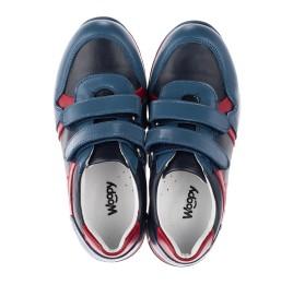 Детские кроссовки Woopy Orthopedic синие для мальчиков натуральная кожа размер 23-35 (3679) Фото 4