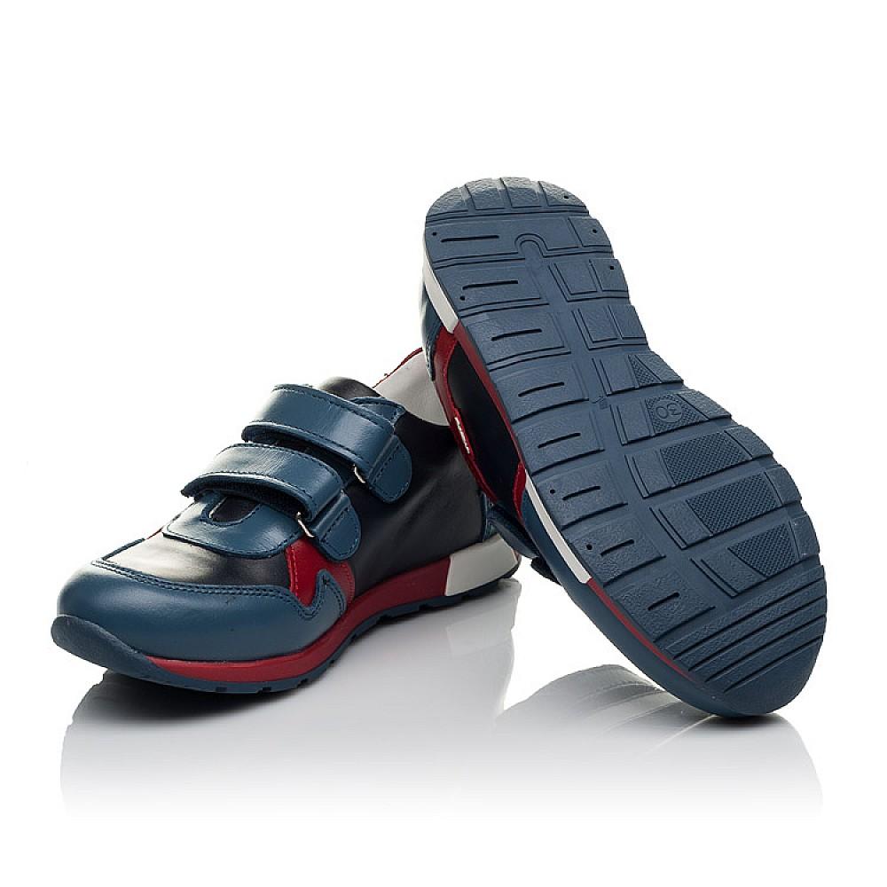 Детские кроссовки Woopy Orthopedic синие для мальчиков натуральная кожа размер 23-35 (3679) Фото 5