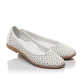 Детские туфли Woopy Orthopedic белые для девочек  натуральная кожа размер 33-34 (3680) Фото 1