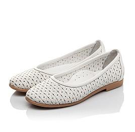 Детские туфли Woopy Orthopedic белые для девочек  натуральная кожа размер 33-34 (3680) Фото 3