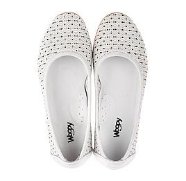 Детские туфли Woopy Orthopedic белые для девочек  натуральная кожа размер 33-34 (3680) Фото 5