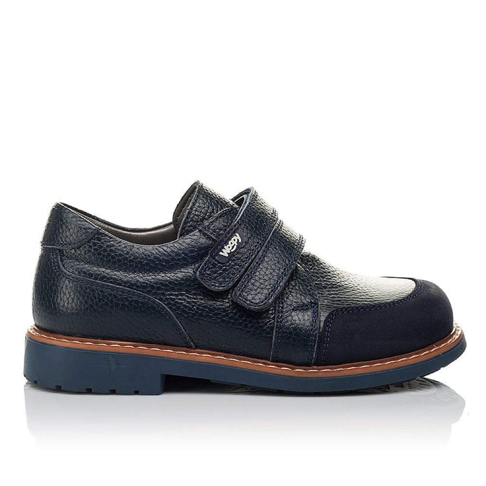 Детские туфли Woopy Orthopedic синий для мальчиков натуральная кожа размер 29-34 (3682) Фото 4