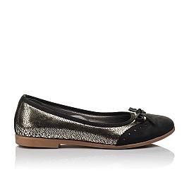 Детские туфли Woopy Orthopedic черные, золотые для девочек натуральная кожа, нубук размер 39-39 (3685) Фото 4