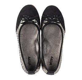 Детские туфли Woopy Orthopedic черные, золотые для девочек натуральная кожа, нубук размер 39-39 (3685) Фото 5