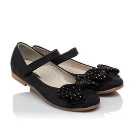 Детские туфли Woopy Orthopedic черный для девочек натуральный нубук размер 29-35 (3690) Фото 1