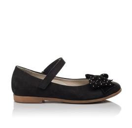 Детские туфли Woopy Orthopedic черный для девочек натуральный нубук размер 29-35 (3690) Фото 2