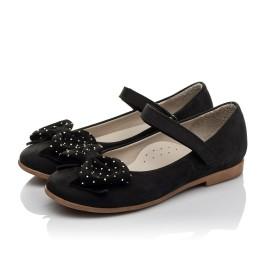 Детские туфли Woopy Orthopedic черный для девочек натуральный нубук размер 29-35 (3690) Фото 4